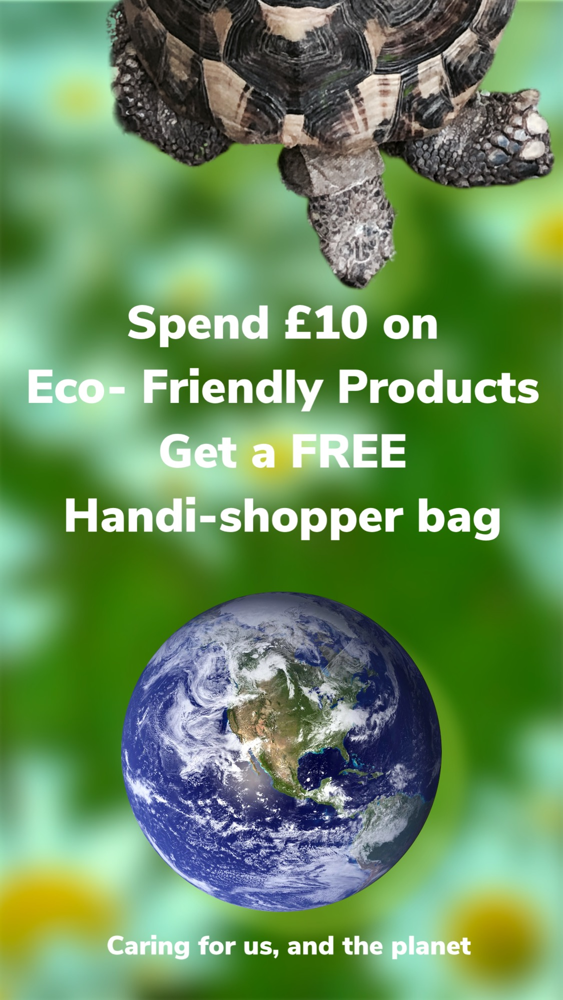 Spend £10 on Eco products and receive a free Hand-shopper bag